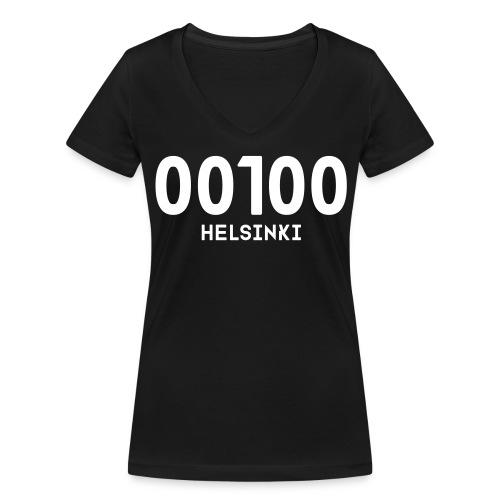00100 HELSINKI - Stanley & Stellan naisten v-aukkoinen luomu-T-paita
