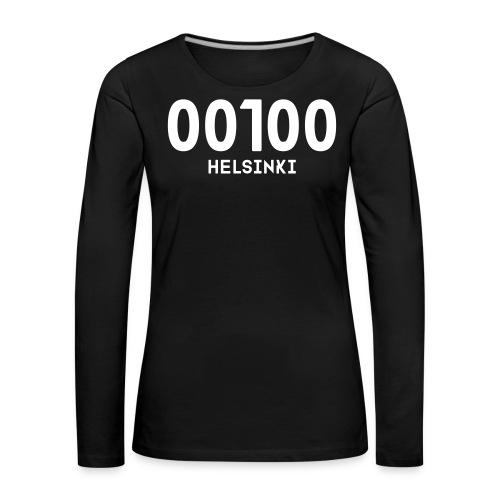 00100 HELSINKI - Naisten premium pitkähihainen t-paita