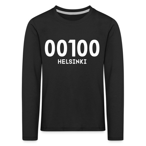 00100 HELSINKI - Lasten premium pitkähihainen t-paita