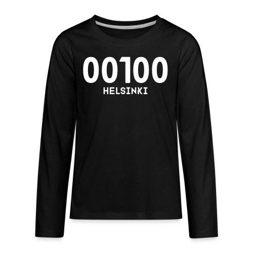 00100 HELSINKI - Teinien premium pitkähihainen t-paita