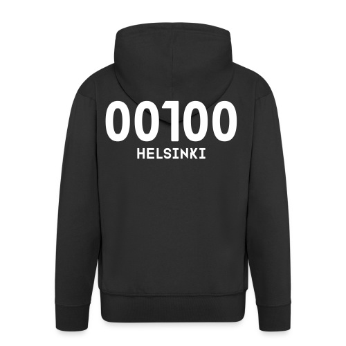 00100 HELSINKI - Miesten premium vetoketjullinen huppari