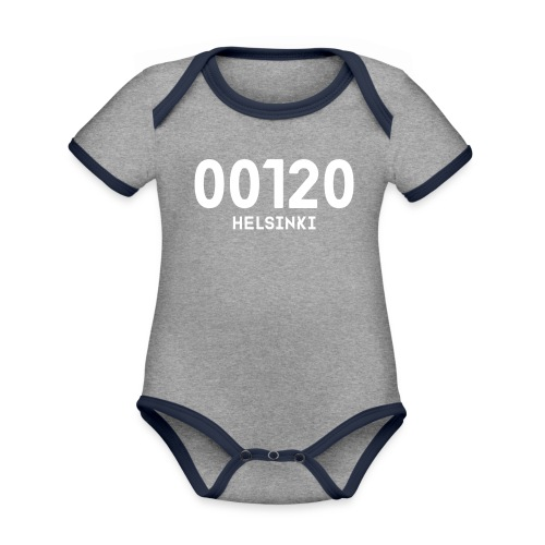 00120 HELSINKI - Vauvan kontrastivärinen, lyhythihainen luomu-body