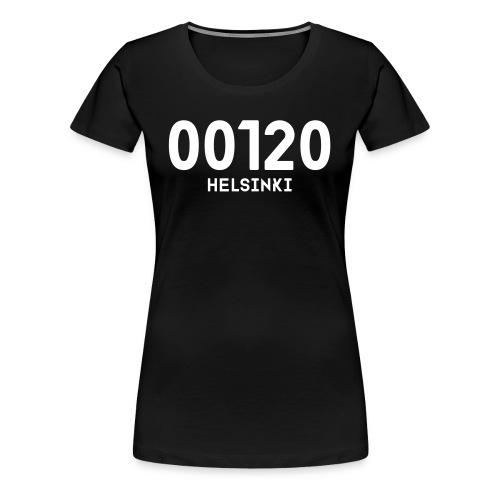 00120 HELSINKI - Naisten premium t-paita