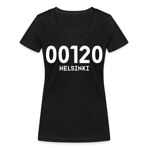 00120 HELSINKI - Stanley & Stellan naisten v-aukkoinen luomu-T-paita