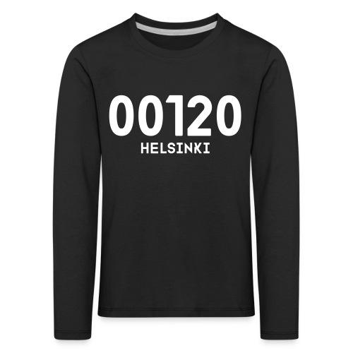 00120 HELSINKI - Lasten premium pitkähihainen t-paita