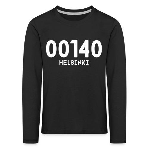 00140 HELSINKI - Lasten premium pitkähihainen t-paita