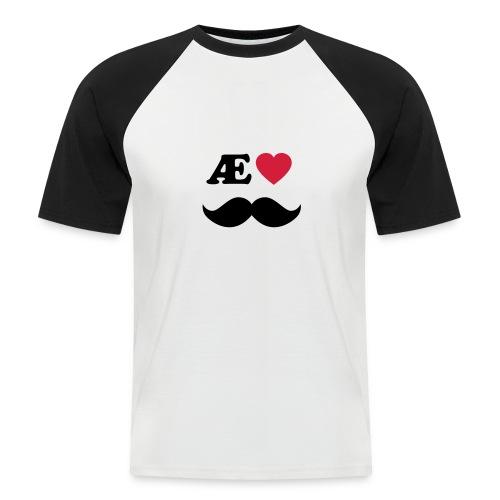 Æ elske han - Kortermet baseball skjorte for menn
