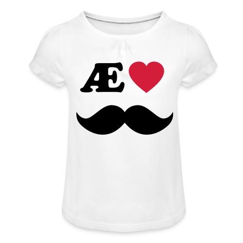 Æ elske han - Jente-T-skjorte med frynser