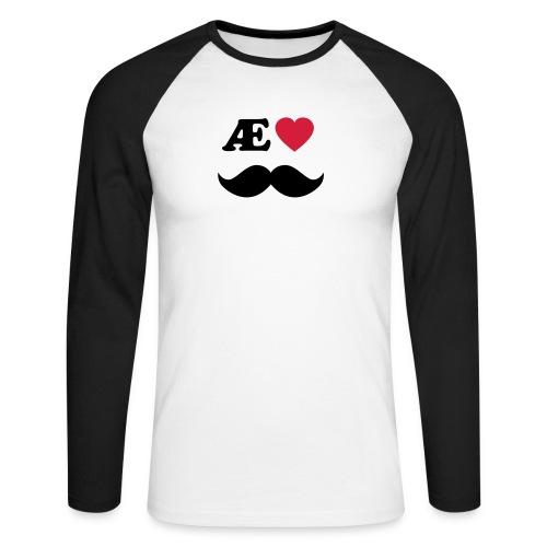 Æ elske han - Langermet baseball-skjorte for menn
