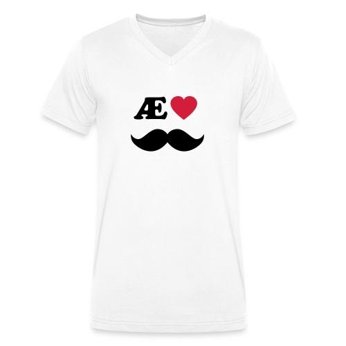 Æ elske han - Økologisk T-skjorte med V-hals for menn fra Stanley & Stella