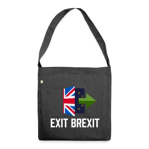 Exit Brexit - Shoulder Bag made from recycled material