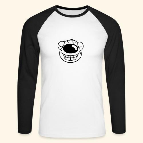 Bär grinst frech - Männer Baseballshirt langarm