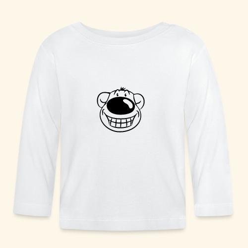 Bär grinst frech - Baby Langarmshirt