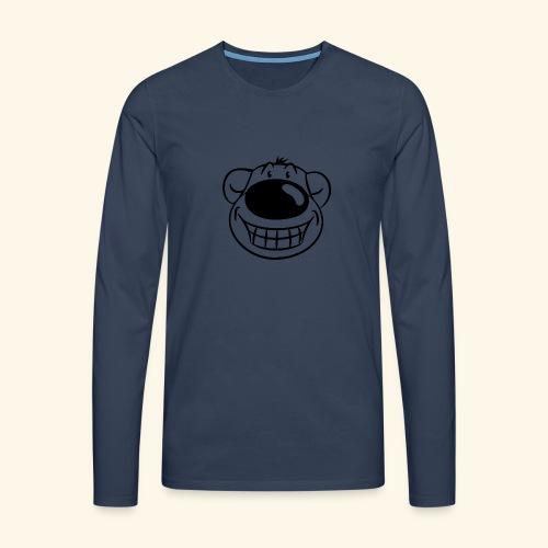 Bär grinst frech - Männer Premium Langarmshirt