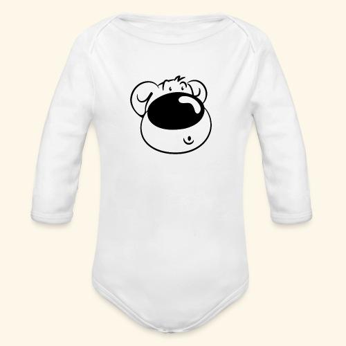 Bär mit Schmollmund - Baby Bio-Langarm-Body