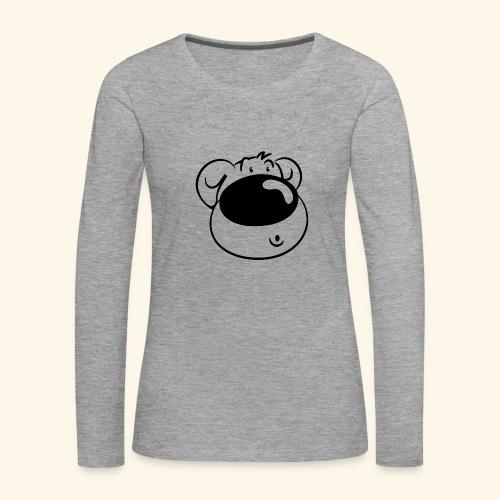 Bär mit Schmollmund - Frauen Premium Langarmshirt