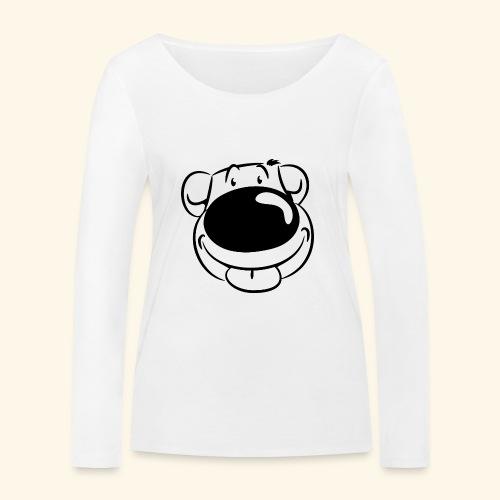 Bär macht Ätsch! - Frauen Bio-Langarmshirt von Stanley & Stella