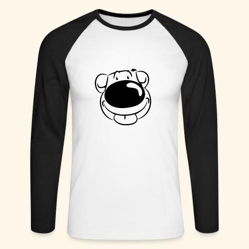 Bär macht Ätsch! - Männer Baseballshirt langarm
