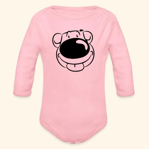 Bär macht Ätsch! - Baby Bio-Langarm-Body