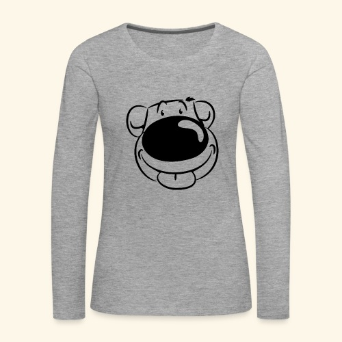 Bär macht Ätsch! - Frauen Premium Langarmshirt