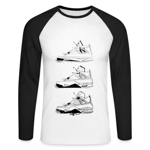 AJIV Destrukt - T-shirt baseball manches longues Homme