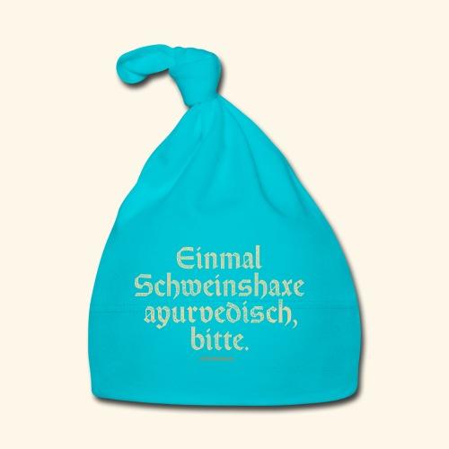 lustiges Sprüche -T-Shirt Schweinshaxe ayurvedisch - Baby Mütze
