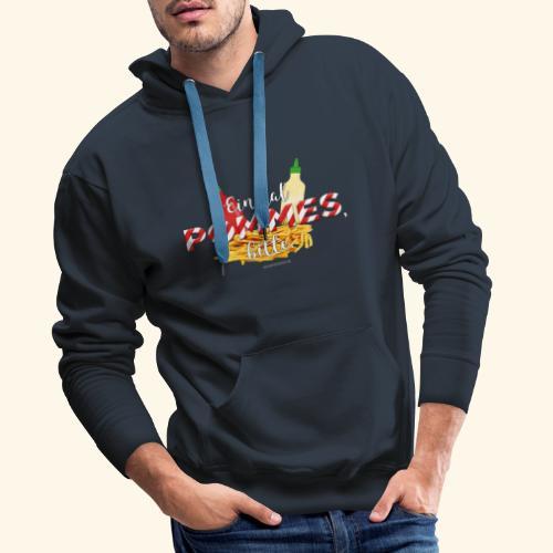 Pommes Schranke T-Shirt - Männer Premium Hoodie