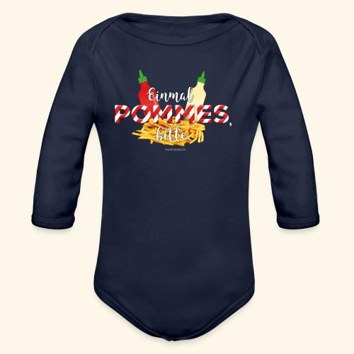 Pommes Schranke T-Shirt - Baby Bio-Langarm-Body