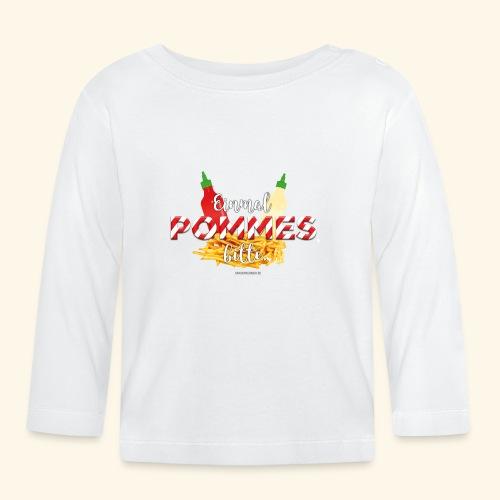 Pommes Schranke T-Shirt - Baby Langarmshirt