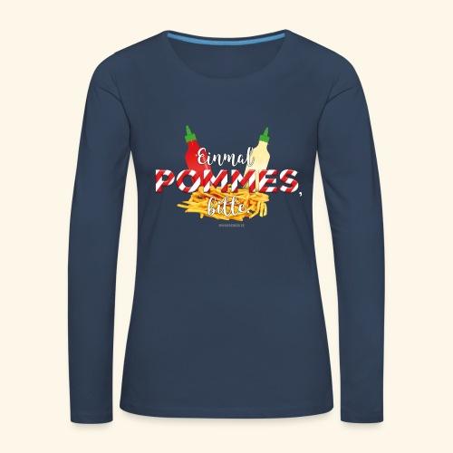 Pommes Schranke T-Shirt - Frauen Premium Langarmshirt