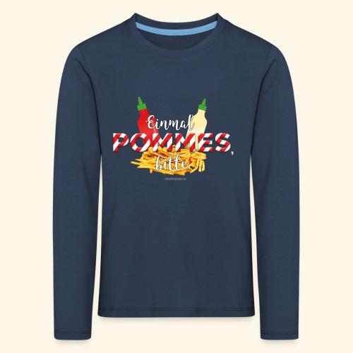 Pommes Schranke T-Shirt - Kinder Premium Langarmshirt