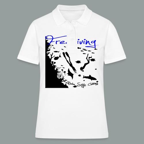 Freediving - Frauen Polo Shirt
