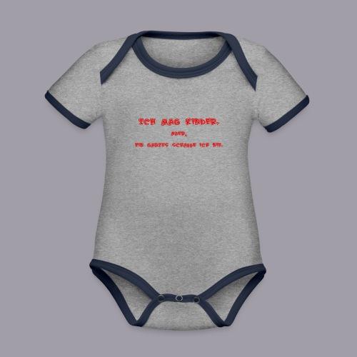 Ich mag Kinder - Baby Bio-Kurzarm-Kontrastbody