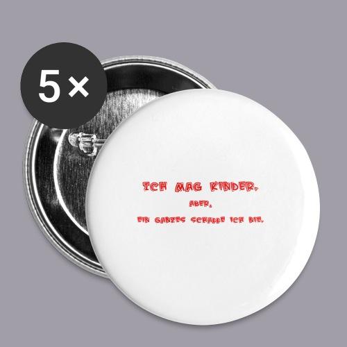 Ich mag Kinder - Buttons klein 25 mm (5er Pack)
