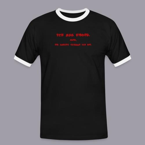 Ich mag Kinder - Männer Kontrast-T-Shirt