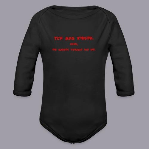 Ich mag Kinder - Baby Bio-Langarm-Body
