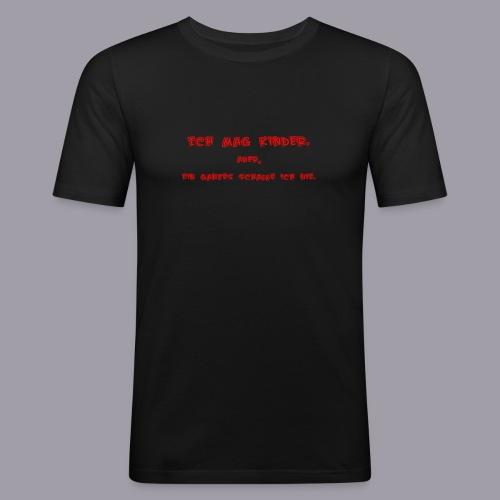 Ich mag Kinder - Männer Slim Fit T-Shirt