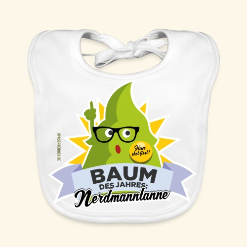 Geschenkidee: lustiges T-Shirt Nerdmanntanne - Baby Bio-Lätzchen