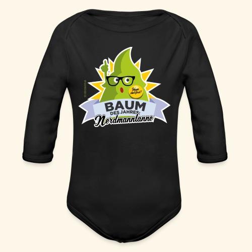 Geschenkidee: lustiges T-Shirt Nerdmanntanne - Baby Bio-Langarm-Body