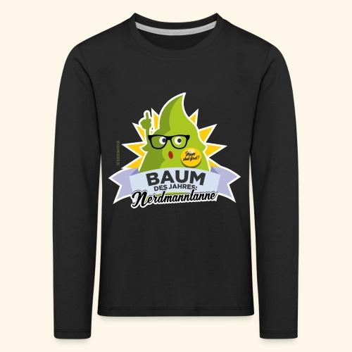 Geschenkidee: lustiges T-Shirt Nerdmanntanne - Kinder Premium Langarmshirt