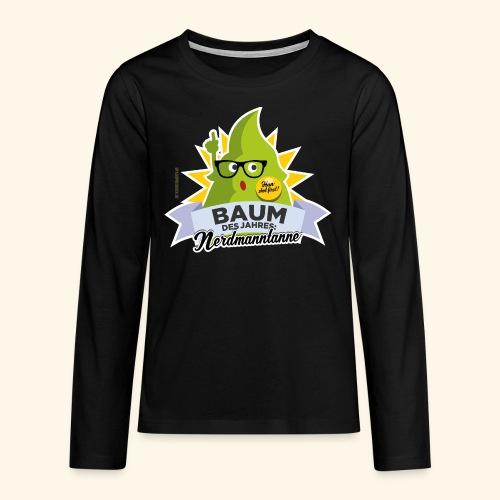 Geschenkidee: lustiges T-Shirt Nerdmanntanne - Teenager Premium Langarmshirt