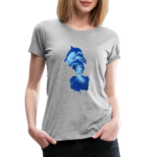 Harmonie, delfin - Frauen Premium T-Shirt