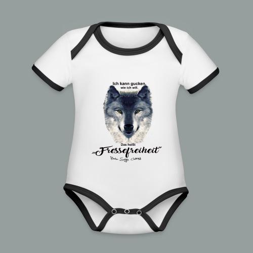 Fressefreiheit - Baby Bio-Kurzarm-Kontrastbody