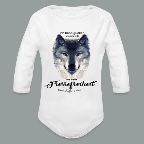 Fressefreiheit - Baby Bio-Langarm-Body