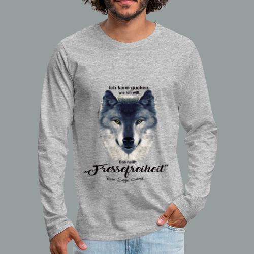 Fressefreiheit - Männer Premium Langarmshirt