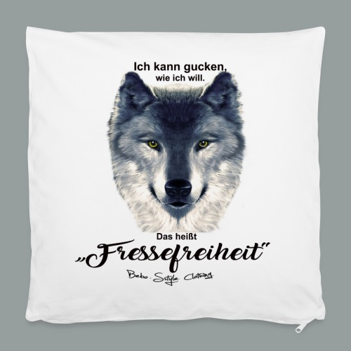 Fressefreiheit - Kissenbezug 40 x 40 cm