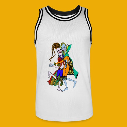 dansende elfen - Mannen basketbal shirt