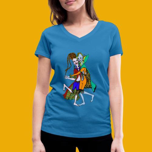 dansende elfen - Vrouwen bio T-shirt met V-hals van Stanley & Stella