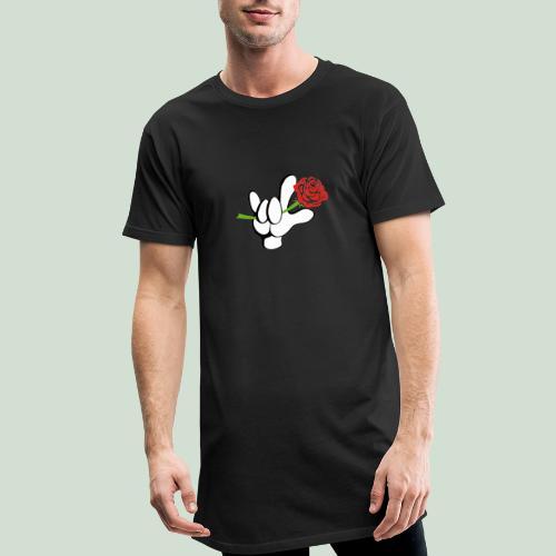 ILY mit Rose - Männer Urban Longshirt