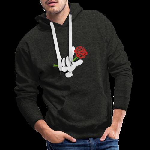 ILY mit Rose - Männer Premium Hoodie